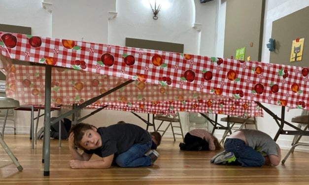 Earthquake Drill at Westminster Preschool